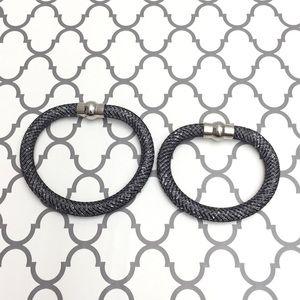 Jewelry - 🆕 Crystal Mesh Bracelets w/ silver clasp